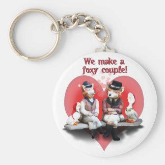 Foxy Couple Keychain