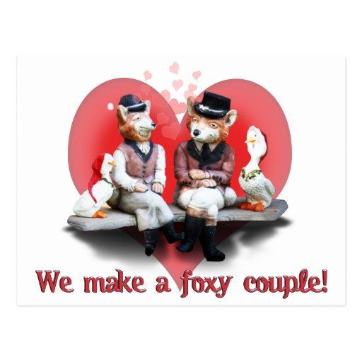 Foxy Couple Postcard