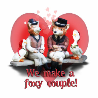 Foxy Couple Standing Photo Sculpture