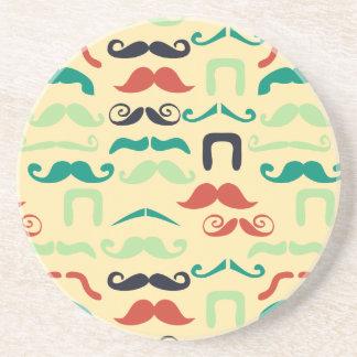 Foxy Dream stache Drink Coaster