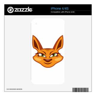 Foxy Face Decals For The iPhone 4