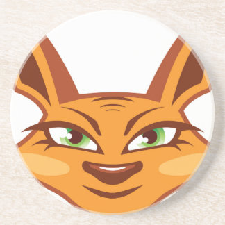Foxy Face Drink Coaster