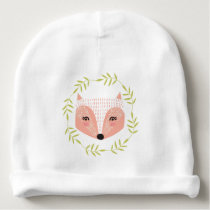 Foxy Faced Baby Cotton Beanie