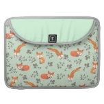 Foxy Floral Macbook Pro Sleeve