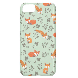 Foxy Floral Pattern iPhone 5C Covers