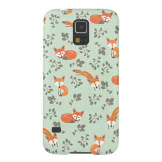 Foxy Floral Pattern Galaxy S5 Cover
