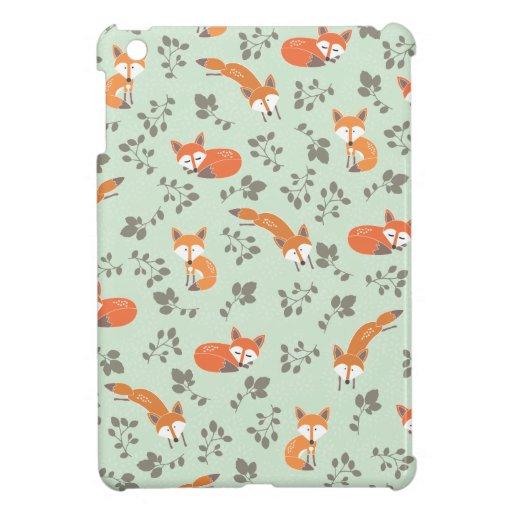 Foxy Floral Pattern iPad Mini Cover