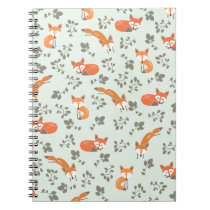 Foxy Floral Pattern Notebook