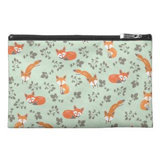 Foxy Floral Travel Makeup Bag