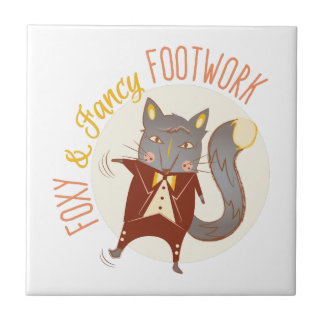 Foxy Footwork Small Square Tile