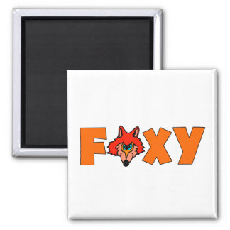 Foxy Fox Refrigerator Magnet