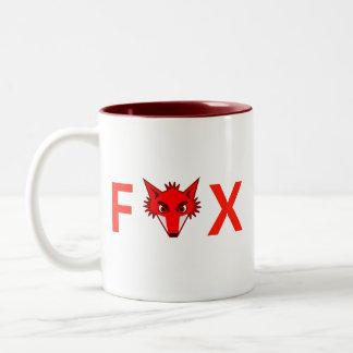 Foxy Fox Two-Tone Coffee Mug