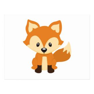 Foxy fox postcard