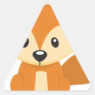 Foxy fox triangle sticker