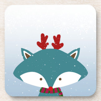 Foxy Get Trendy For Christmas Coaster