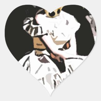 Foxy Heart Sticker