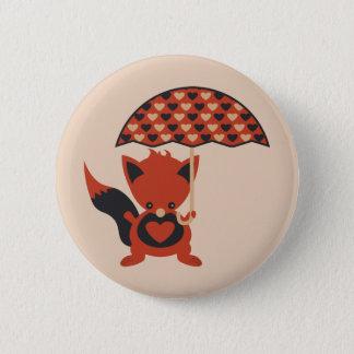 Foxy Hearts Button