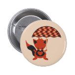 Foxy Hearts Pin