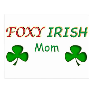 Foxy Irish Mom Postcard