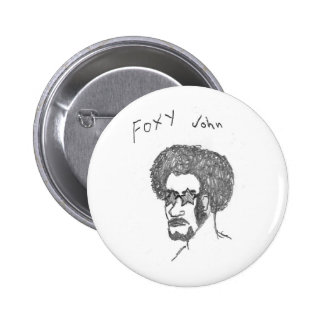 Foxy John 2 Inch Round Button
