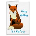 Foxy Lady Birthday Greeting Card