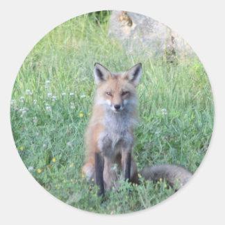 Foxy Lady Classic Round Sticker