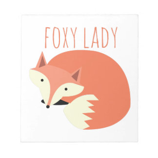 Foxy Lady Memo Pad