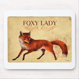 Foxy Lady Red Fox Mousepad