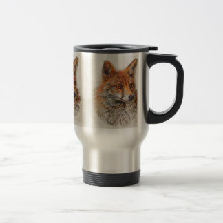 Foxy Lady red fox painting Travel Mug