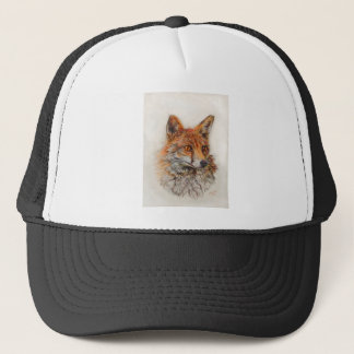 Foxy Lady red fox painting Trucker Hat