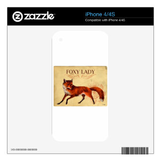 Foxy Lady Red Fox Skin For The iPhone 4