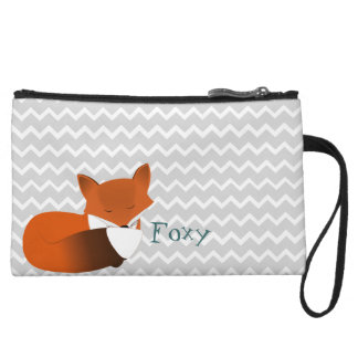 Foxy Little Red Fox Wristlet Wallet