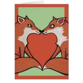 Foxy Love Blank Card