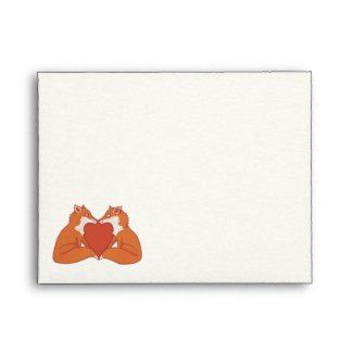 Foxy Love brown A2 Note Card Envelope