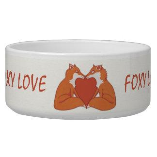 Foxy Love brown Dog Bowl