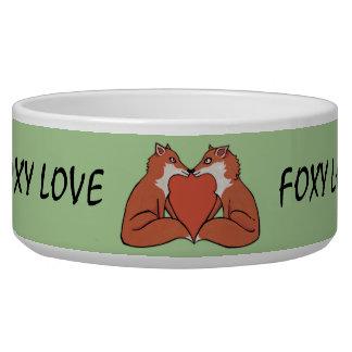 Foxy Love Dog Bowl