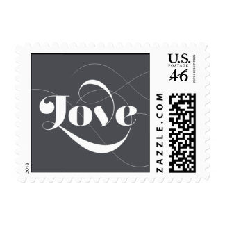 Foxy - Love - Gray Postage Stamps