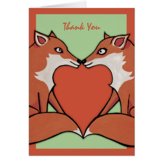 Foxy Love Thank You Note Card