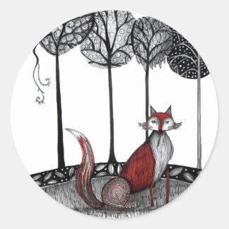 Foxy Loxy Classic Round Sticker