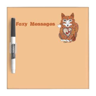 Foxy Message Board Dry-Erase Whiteboard
