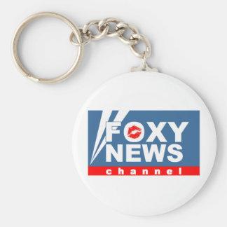 Foxy News Channel Keychain