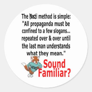 Foxy News Classic Round Sticker