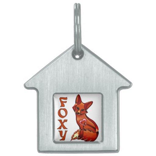Foxy Pet ID Tag