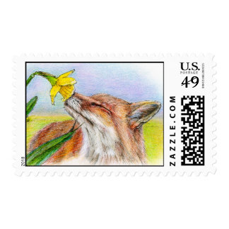 FOXY POSTAGE STAMP