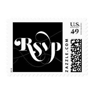Foxy - RSVP - Black Postage Stamp