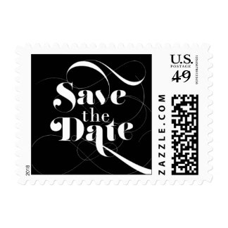 Foxy - Save the Date - Black Postage