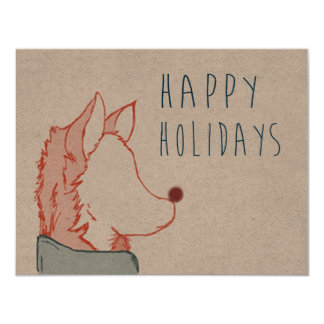 Foxy Series, Happy Holidays Card