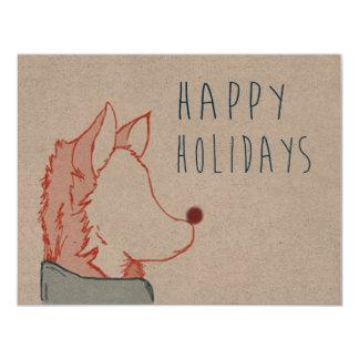 Foxy Series, Happy Holidays Custom Invites