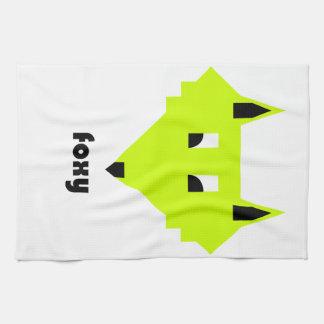 Foxy tea towel