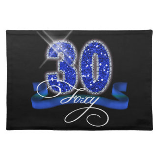 Foxy Thirty Sparkle Place Mat